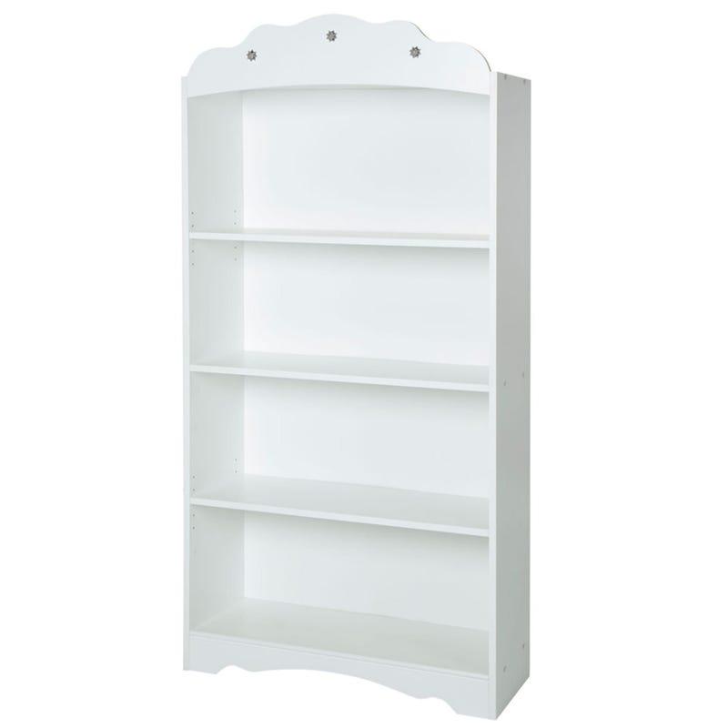 Tiara 4-Shelf Bookcase - Pure White