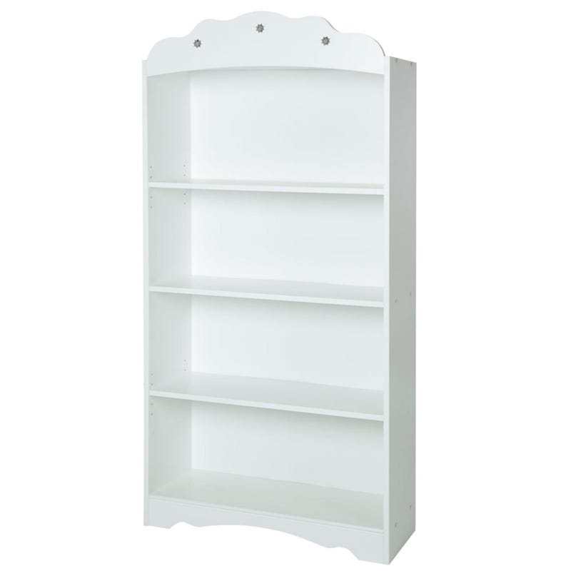 Tiara 4-Shelf Bookcase - Pure White