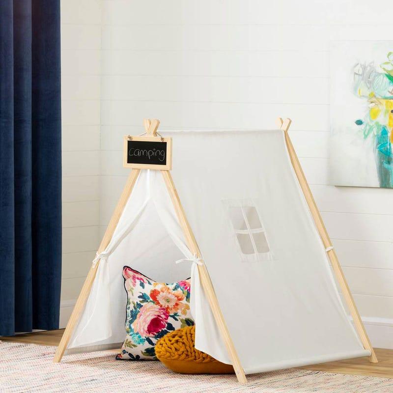 Tente de Jeu Avec Tableau Sweedi - Coton Naturel et Pin