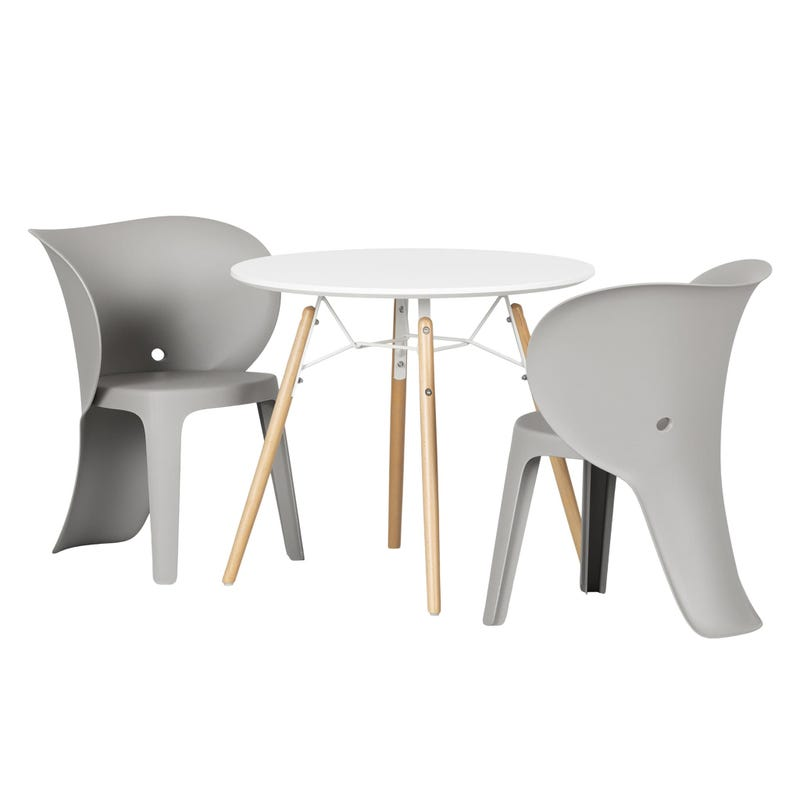 Sweedi Kids table and chairs set - Elephant Gray