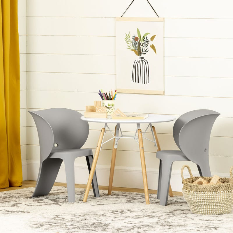 Ensemble Table et Chaises pour Enfants Sweedi - Gris Éléphant