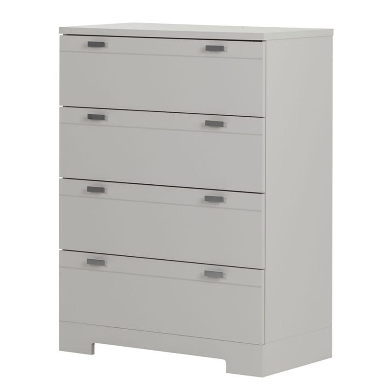 Reevo 4-Drawer Chest - Soft Gray