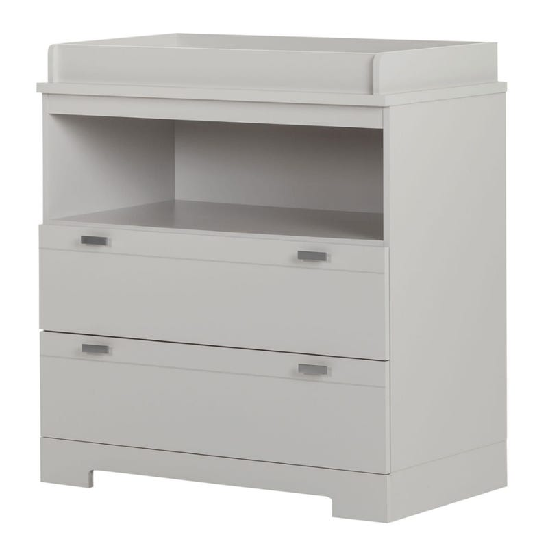 Reevo Changing Table with Storage - Soft Gray