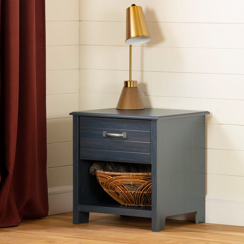 1-Drawer Nightstand Ulysses - Blueberry