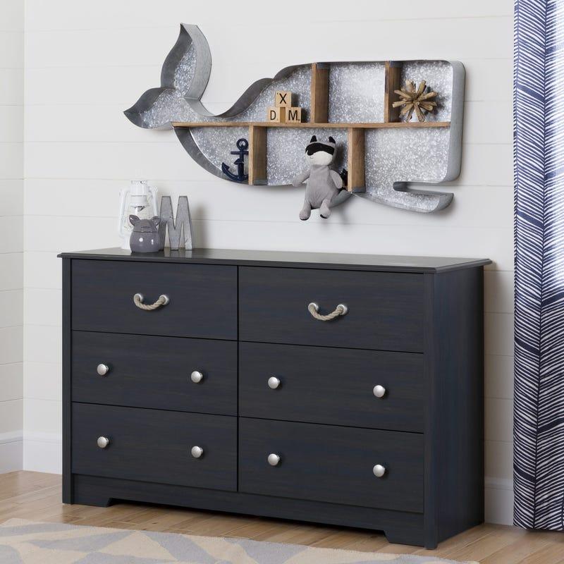 6-Drawer Double Dresser - Aviron Blueberry