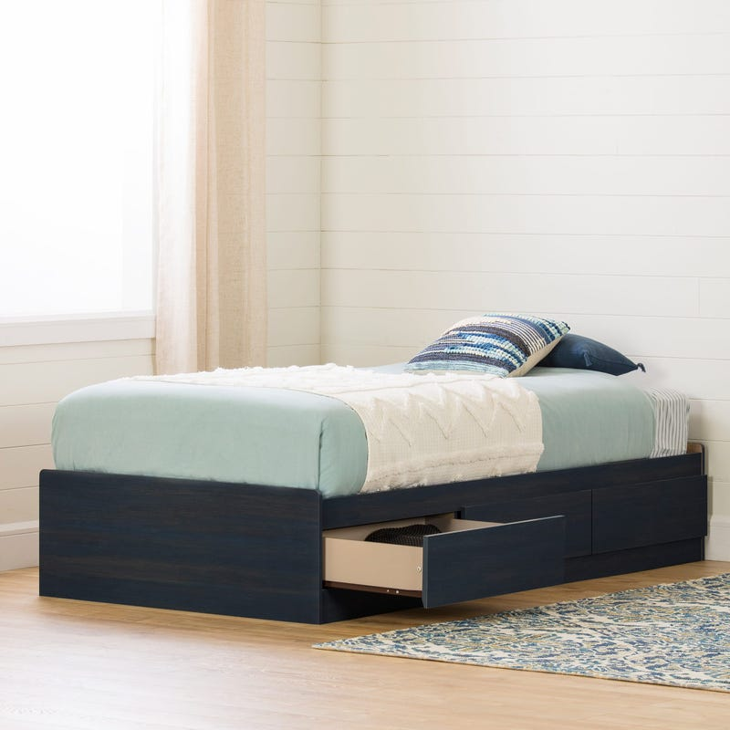 Mates Bed with 3 Drawers - Aviron Blueberry