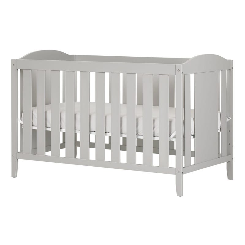 Angel Crib with Toddler rail - Soft Gray