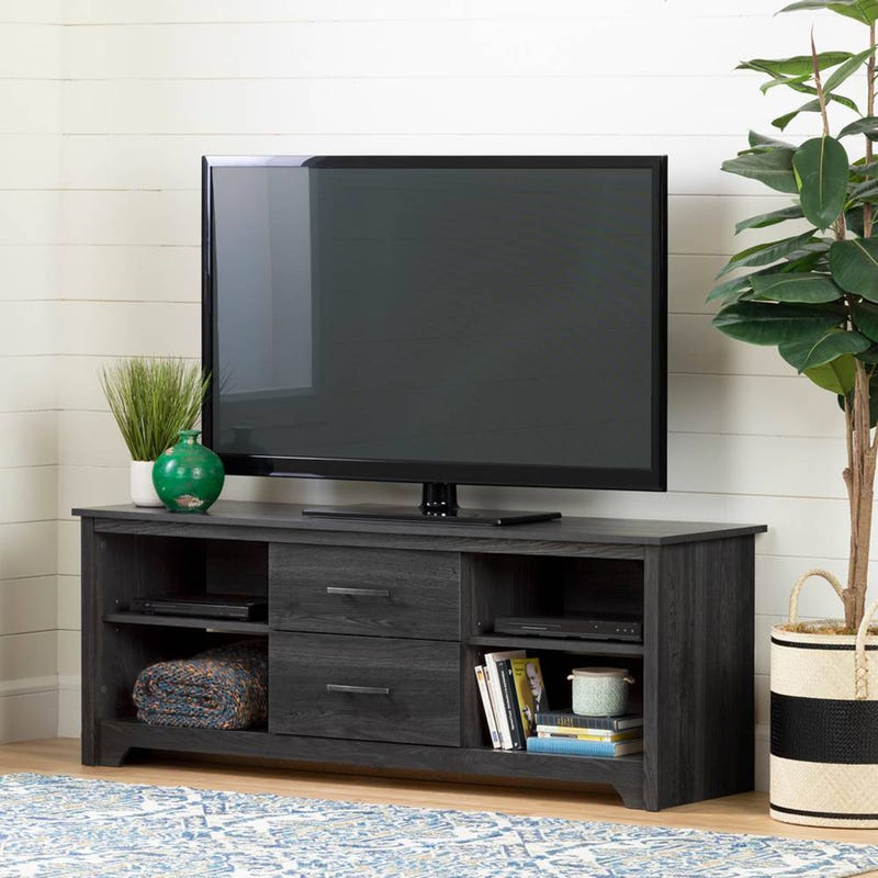 """Fusion TV Stand with Drawers for TVs up to 60"""" - Gray Oak"""