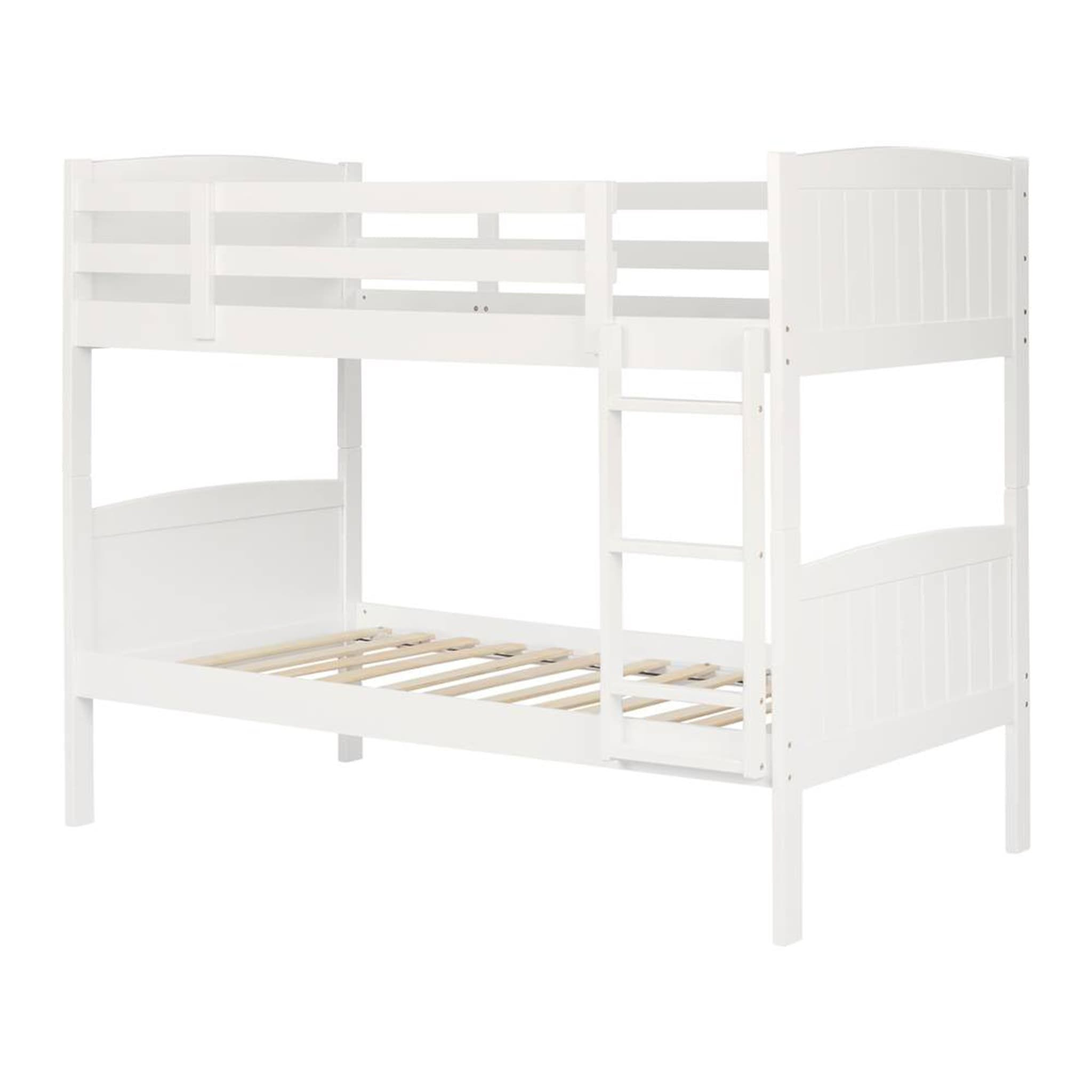 classic fit 40b79 743f8 South Shore Furnitures Savannah Solid Wood Twin Bunk Beds - Pure White -  Clement
