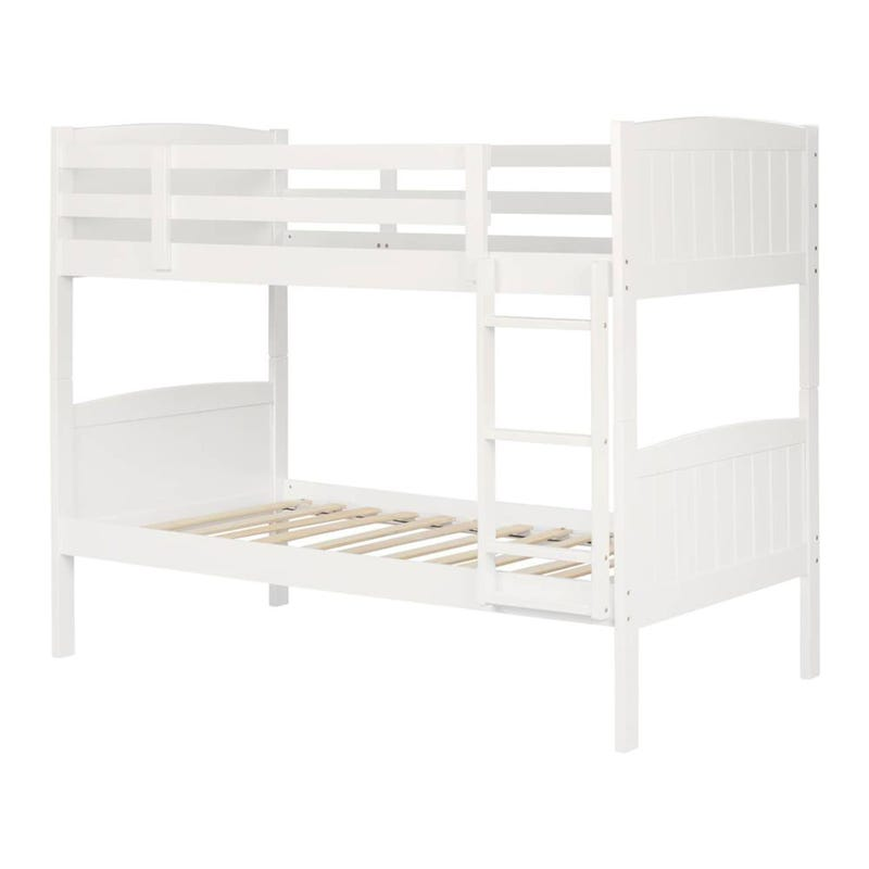 Savannah Solid Wood Twin Bunk Beds - Pure White