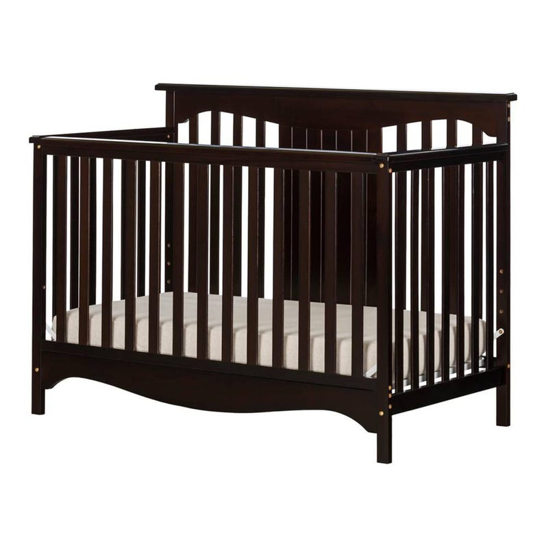Savannah Baby Crib 4 Heights with Toddler Rail - Espresso