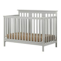 Cotton Candy Baby Crib 4 Heights with Toddler Rail - Soft Gray