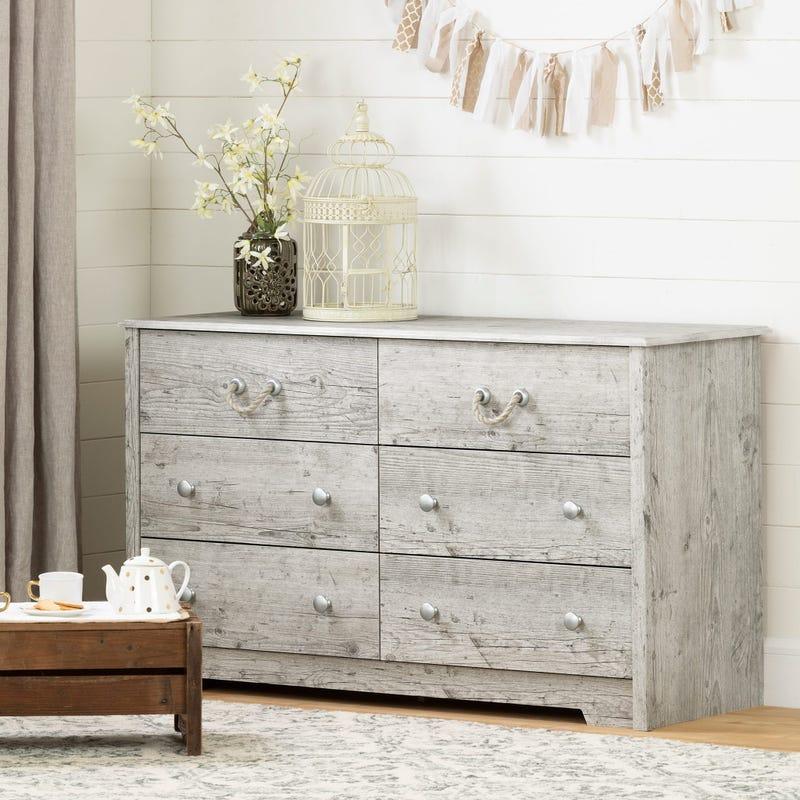 6-Drawer Double Dresser - Aviron Seaside Pine