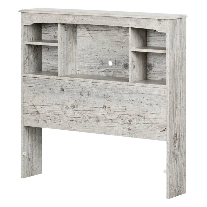 Navali Twin Bookcase Headboard - Seaside Pine