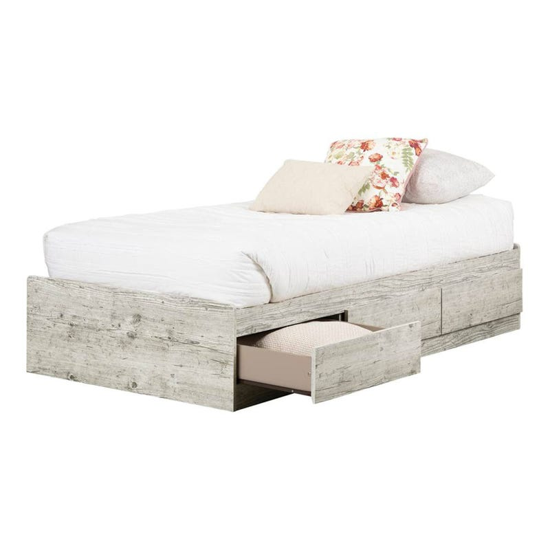 Aviron Twin Mates Bed with 3 Drawers - Seaside Pine