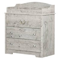 Navali Changing Table with Drawers - Seaside Pine