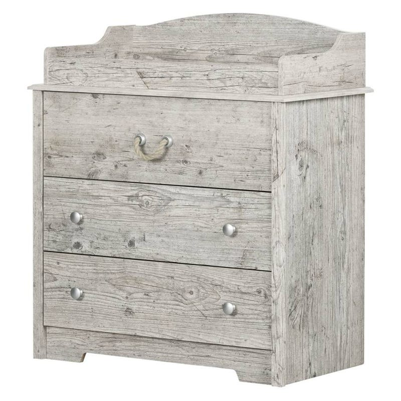 Aviron Changing Table with Drawers - Seaside Pine