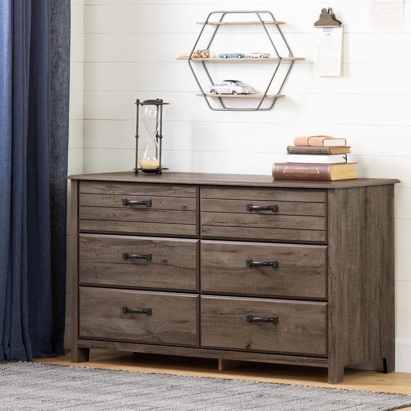 6-Drawer Double Dresser Ulysses - Fall Oak