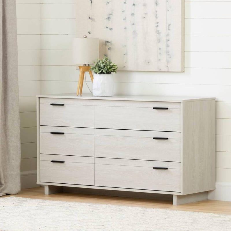Fynn 6-Drawer Double Dresser - Winter Oak