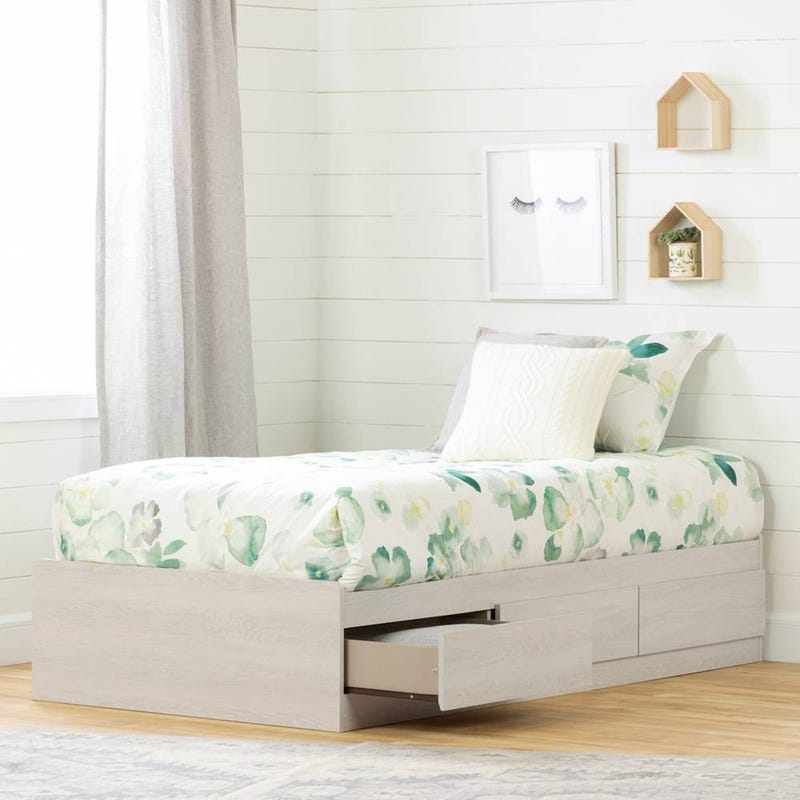 Fynn Twin Mates Bed with 3 Drawers - Winter Oak