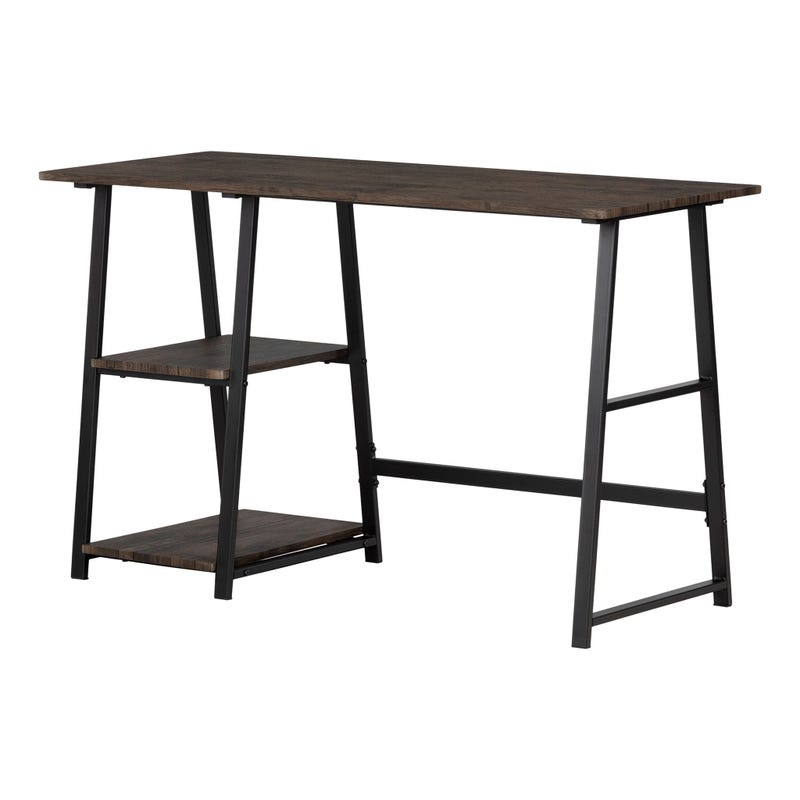 Industrial Desk with Storage - Evane Fall Oak