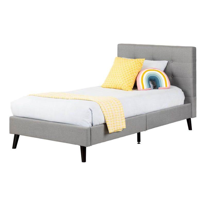 Twin Bed Fusion - Medium Grey