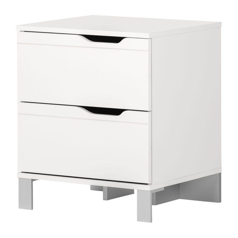 2-Drawer Nightstand - Kanagane Pure White