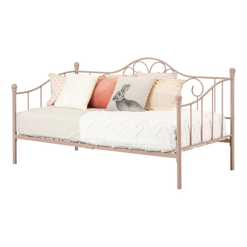 Lily Rose Metal Daybed - Pink Blush