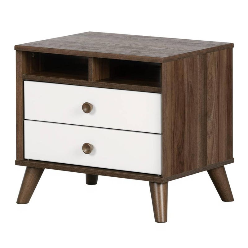 Nighstand walnut white Yodi