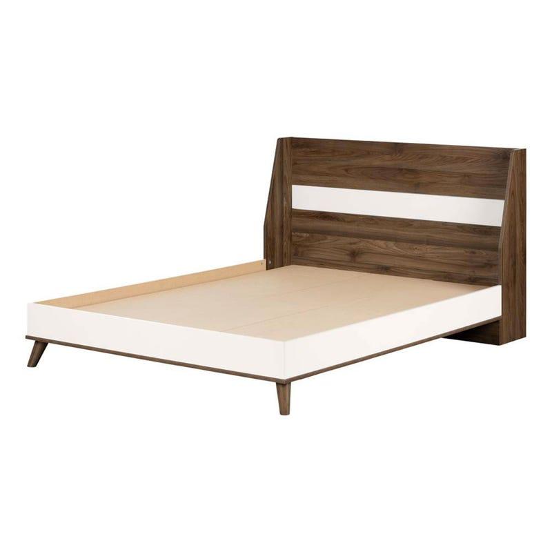 Double Bed Yodi - Rustic Oak / White Solide