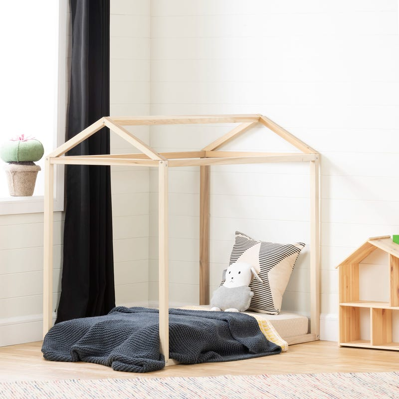 Toddler House for Transition Bed - Sweedi Natural Wood