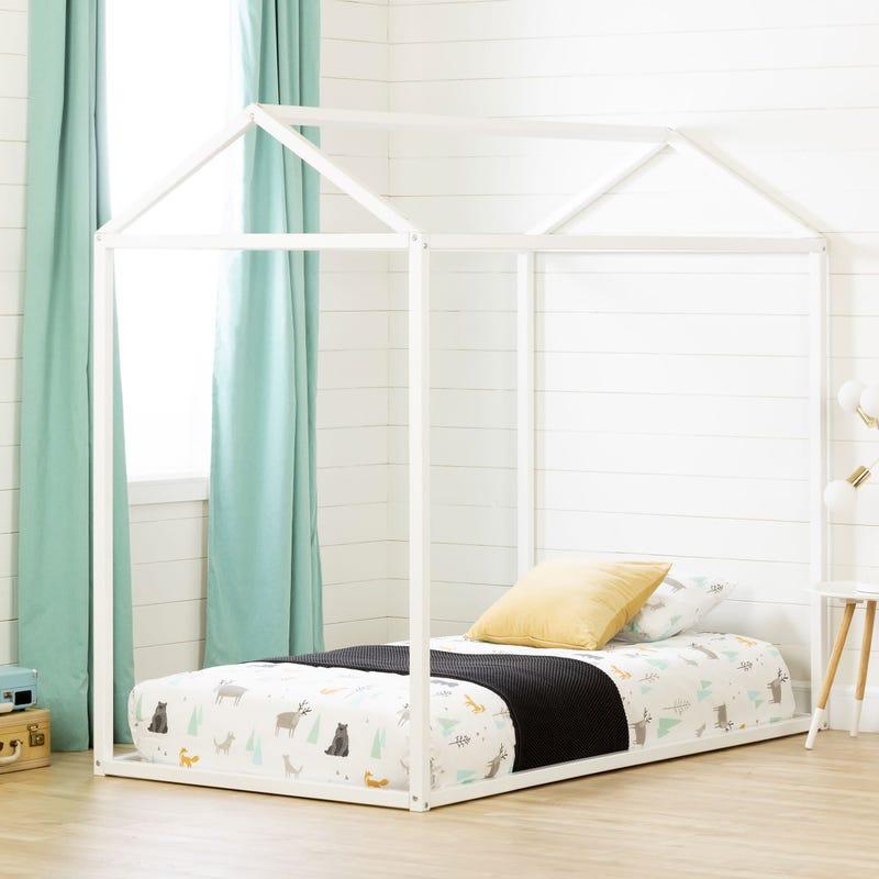 Maisonnette pour Lit Simple Sweedi - Blanc