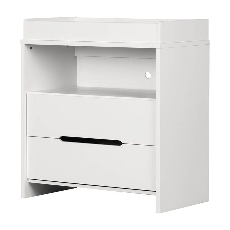 Cookie 2 Drawer Changing table - White