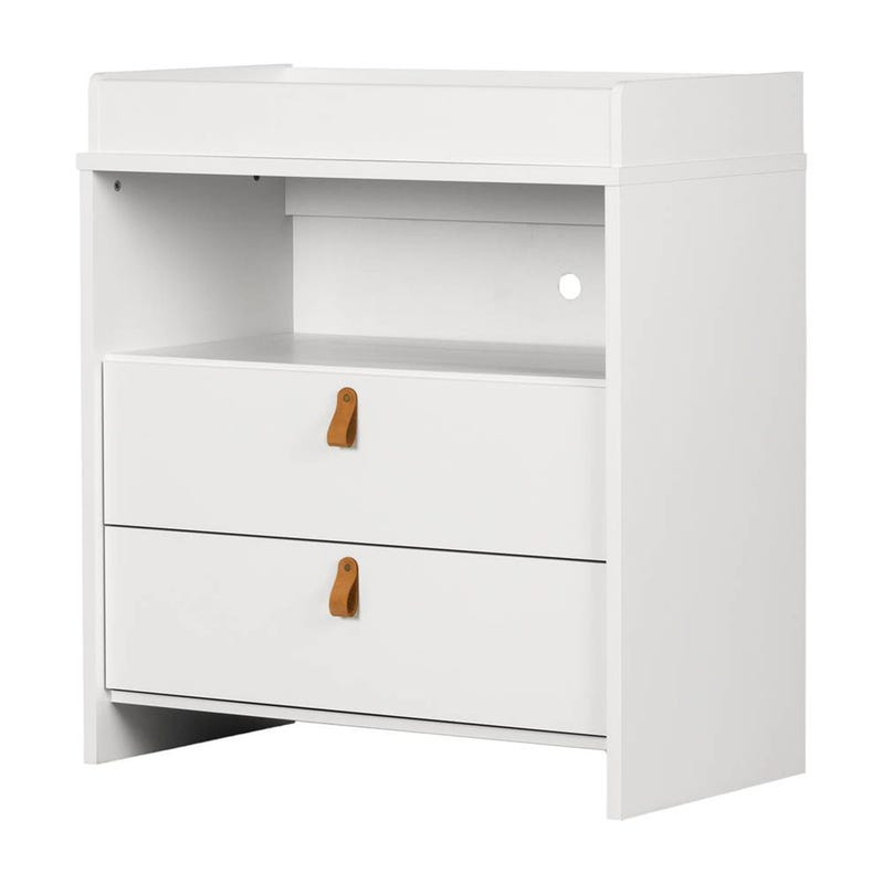 Balka 2 Drawer Changing Table - White