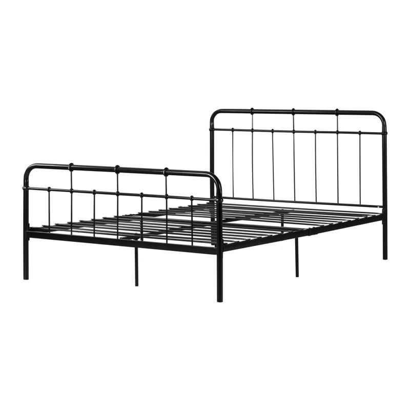 Double bed steel black Henkel