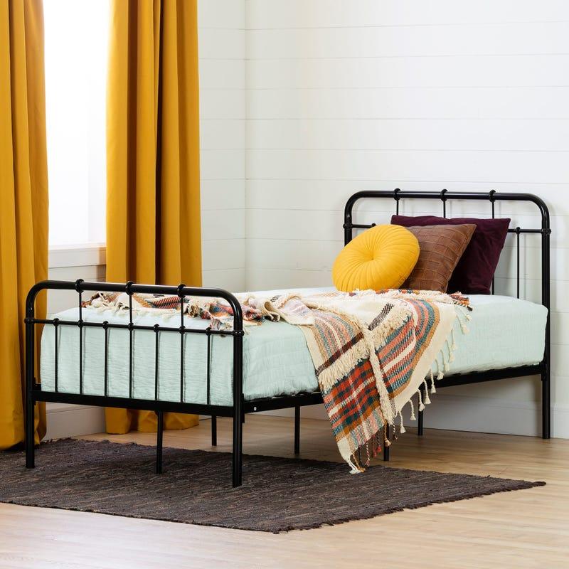 Metal Complete Bed - Versa Pure Black