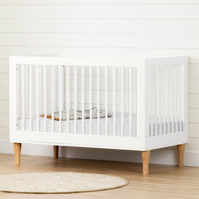 Baby Crib With Adjustable Height - Balka Pure White