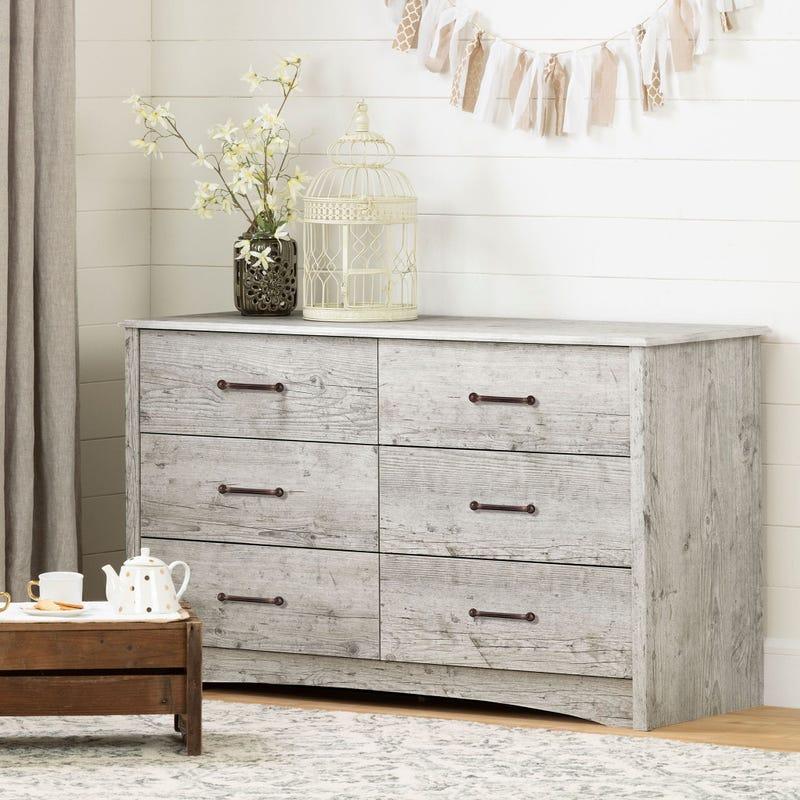 6-Drawer Double Dresser - Helson Seaside Pine