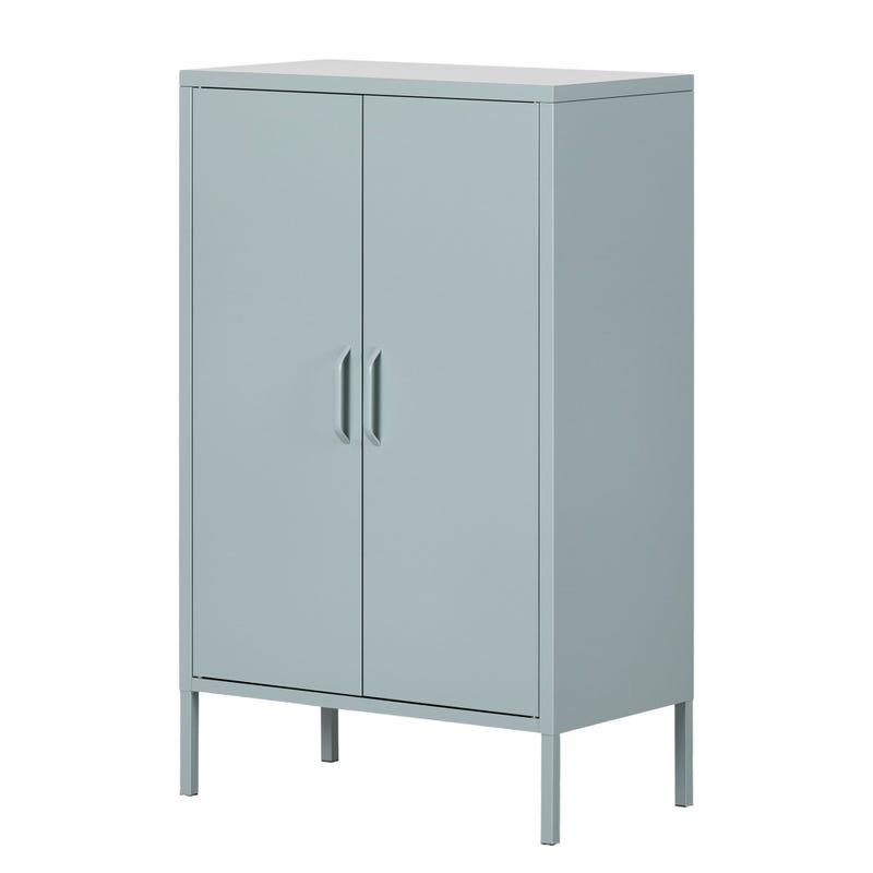 Metal 2-door Accent Cabinet Crea - Pale Blue