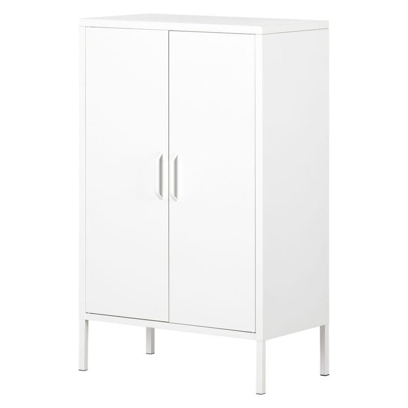 Metal 2-door Accent Cabinet Crea - White
