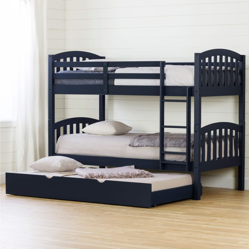 Bunk Beds with Trundle Ulysses - Blueberry
