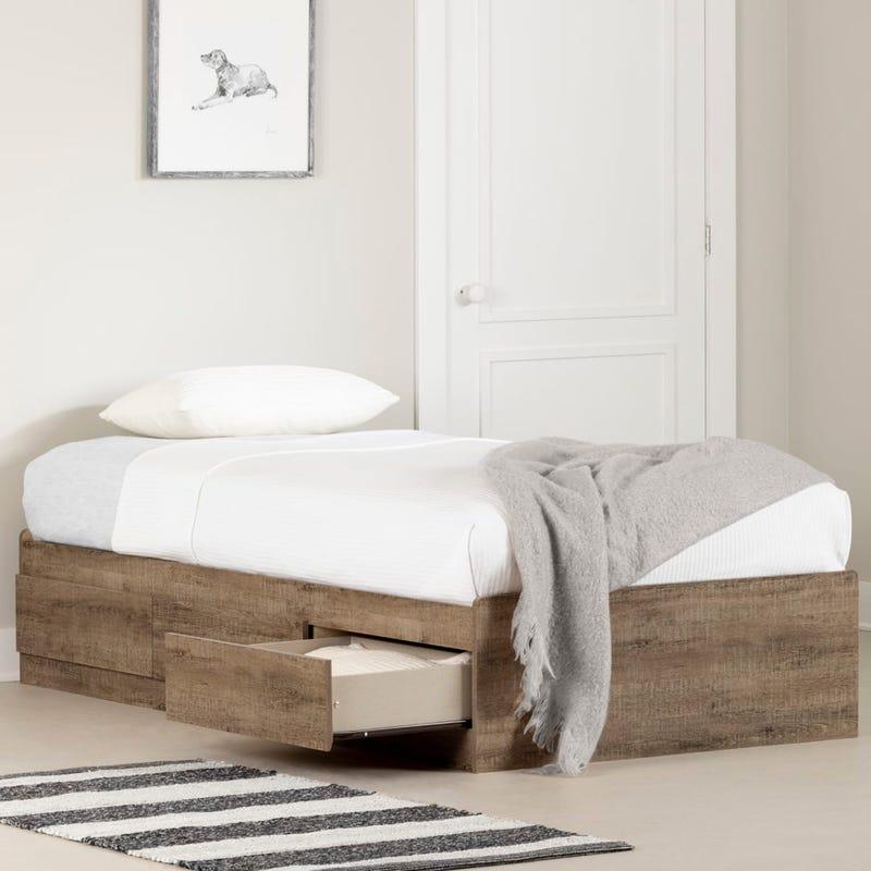 Munich Twin Mates Bed - Weathered Oak