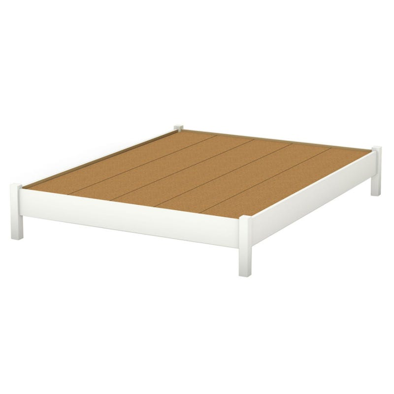 Step One Queen Platform Bed - Pure White
