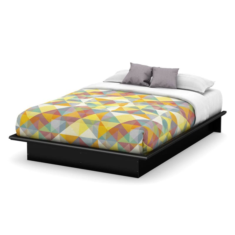 Step One Double Platform Bed - Pure Black