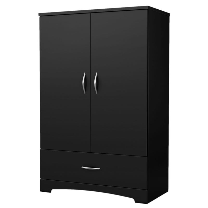 Step One Armoire - Pure Black