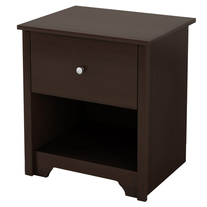 Vito 1-Drawer Nightstand - Chocolate