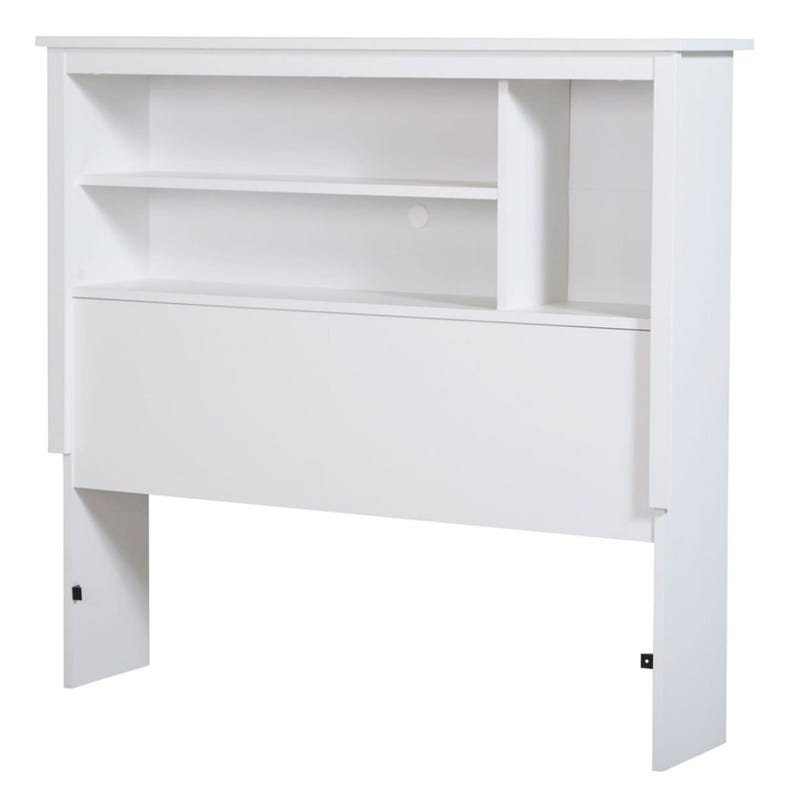 Vito Twin Bookcase Headboard - Pure White