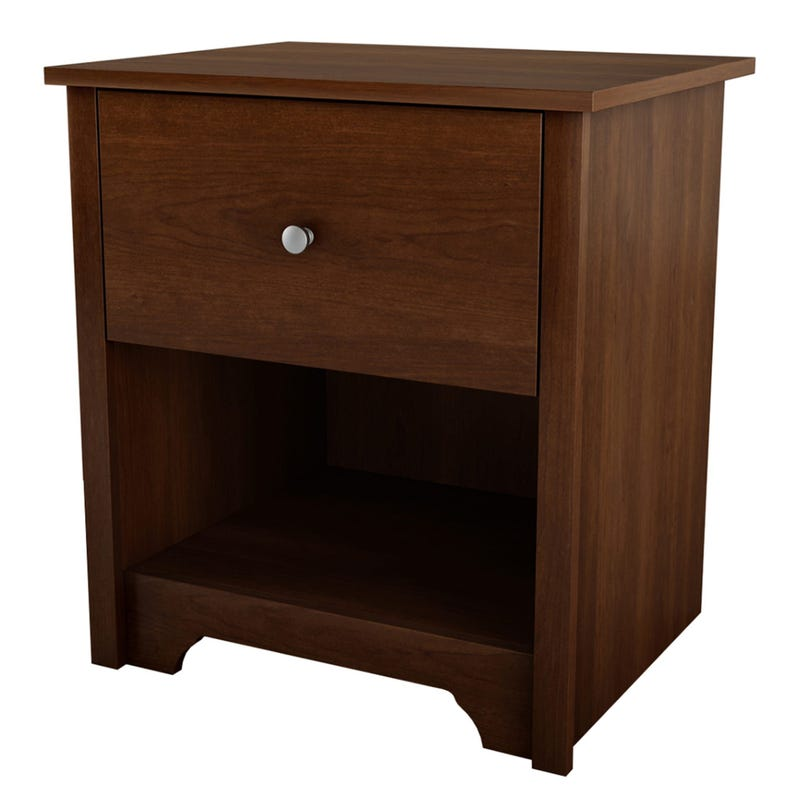 Vito 1-Drawer Nightstand - Sumptuous Cherry