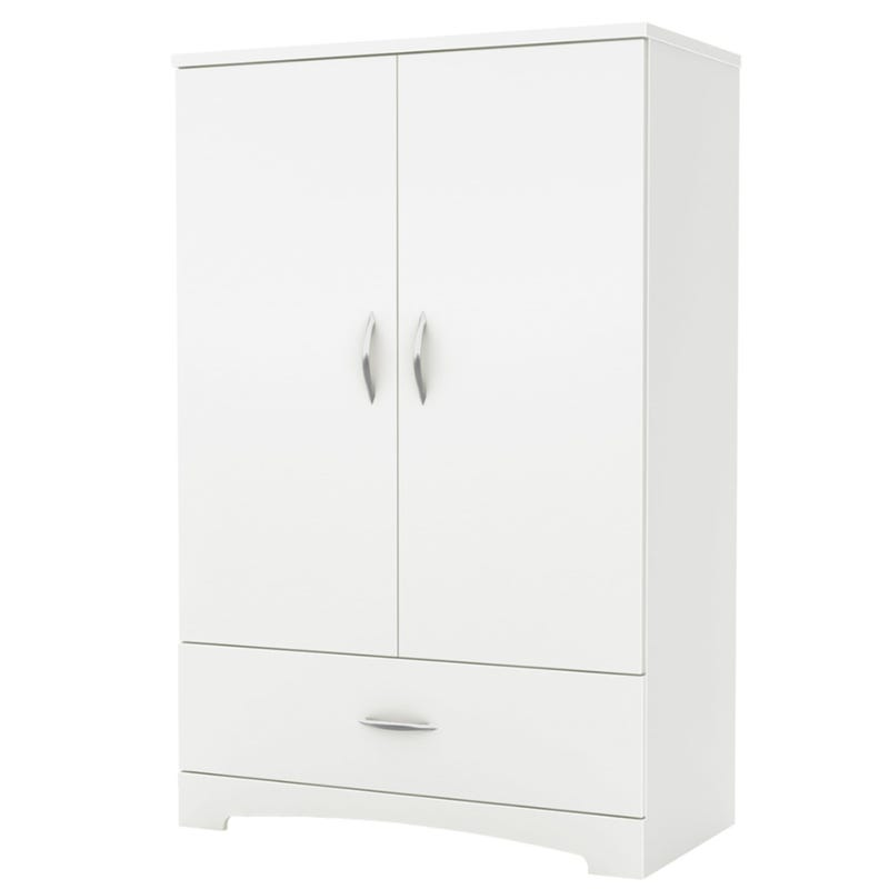 Step One Armoire - Pure White