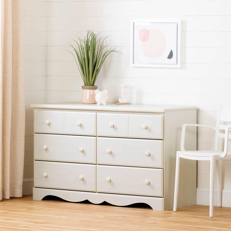 Bureau 6 tiroirs Summer Breeze -Blanc Antique
